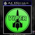Battlestar Viper Pilot Decal Sticker CR BSG Lime Green Vinyl 120x120