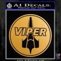 Battlestar Viper Pilot Decal Sticker CR BSG Metallic Gold Vinyl Vinyl 120x120