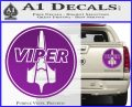 Battlestar Viper Pilot Decal Sticker CR BSG Purple Vinyl 120x97