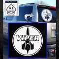 Battlestar Viper Pilot Decal Sticker CR BSG White Emblem 120x120