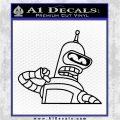 Bender Decal Sticker Bite My Shiny Metal Ass Black Logo Emblem 120x120