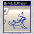 Bender Decal Sticker Bite My Shiny Metal Ass Blue Vinyl 120x120
