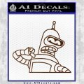 Bender Decal Sticker Bite My Shiny Metal Ass Brown Vinyl 120x120