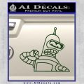 Bender Decal Sticker Bite My Shiny Metal Ass Dark Green Vinyl 120x120