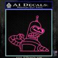 Bender Decal Sticker Bite My Shiny Metal Ass Hot Pink Vinyl 120x120