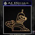 Bender Decal Sticker Bite My Shiny Metal Ass Metallic Gold Vinyl Vinyl 120x120