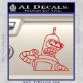 Bender Decal Sticker Bite My Shiny Metal Ass Red Vinyl 120x120