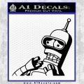 Bender Worried Decal Sticker Futurama Black Logo Emblem 120x120