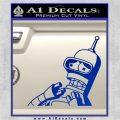 Bender Worried Decal Sticker Futurama Blue Vinyl 120x120