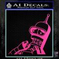 Bender Worried Decal Sticker Futurama Hot Pink Vinyl 120x120