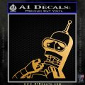 Bender Worried Decal Sticker Futurama Metallic Gold Vinyl Vinyl 120x120