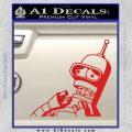 Bender Worried Decal Sticker Futurama Red Vinyl 120x120