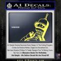 Bender Worried Decal Sticker Futurama Yelllow Vinyl 120x120
