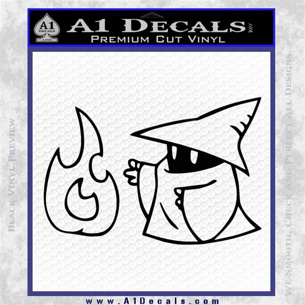 Black Mage Decal Sticker Final Fantasy Fire Black Logo Emblem