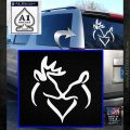 Browning Buck Doe Love Decal Sticker White Emblem 120x120