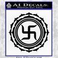 Buddha Spiritual Swastika Lotus Buddhism Decal Sticker Black Logo Emblem 120x120