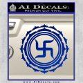 Buddha Spiritual Swastika Lotus Buddhism Decal Sticker Blue Vinyl 120x120