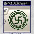 Buddha Spiritual Swastika Lotus Buddhism Decal Sticker Dark Green Vinyl 120x120