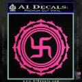 Buddha Spiritual Swastika Lotus Buddhism Decal Sticker Hot Pink Vinyl 120x120