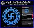 Buddha Spiritual Swastika Lotus Buddhism Decal Sticker Light Blue Vinyl 120x97