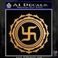 Buddha Spiritual Swastika Lotus Buddhism Decal Sticker Metallic Gold Vinyl Vinyl 120x120