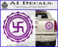 Buddha Spiritual Swastika Lotus Buddhism Decal Sticker Purple Vinyl 120x97