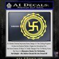Buddha Spiritual Swastika Lotus Buddhism Decal Sticker Yelllow Vinyl 120x120