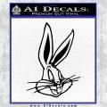 Bugs Bunny Head Decal Sticker Black Logo Emblem 120x120