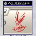 Bugs Bunny Head Decal Sticker Red Vinyl 120x120