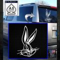 Bugs Bunny Head Decal Sticker White Emblem 120x120