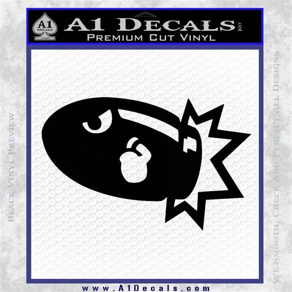 Bullet Bill Blast Decal Sticker Black Logo Emblem