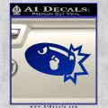 Bullet Bill Blast Decal Sticker Blue Vinyl 120x120