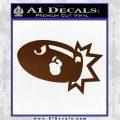 Bullet Bill Blast Decal Sticker Brown Vinyl 120x120