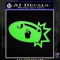 Bullet Bill Blast Decal Sticker Lime Green Vinyl 120x120