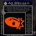 Bullet Bill Blast Decal Sticker Orange Vinyl Emblem 120x120