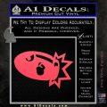 Bullet Bill Blast Decal Sticker Pink Vinyl Emblem 120x120