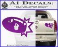 Bullet Bill Blast Decal Sticker Purple Vinyl 120x97