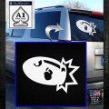 Bullet Bill Blast Decal Sticker White Emblem 120x120