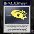 Bullet Bill Blast Decal Sticker Yelllow Vinyl 120x120