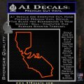 California Bear Decal Sticker Orange Vinyl Emblem 120x120