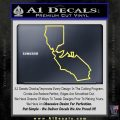 California Bear Decal Sticker Yelllow Vinyl 120x120