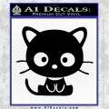 Cute Kitty Cat JDM Decal Sticker Black Logo Emblem 120x120