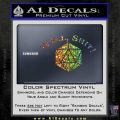 D20 Well Shit DD Dungeons Dragons Decal Sticker Sparkle Glitter Vinyl 120x120