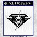DC Super Heros Justice League Mashup Decal Sticker Black Logo Emblem 120x120