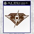 DC Super Heros Justice League Mashup Decal Sticker Brown Vinyl 120x120