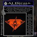 DC Super Heros Justice League Mashup Decal Sticker Orange Vinyl Emblem 120x120