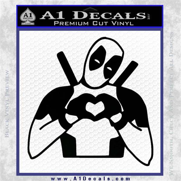 Dead Fool Heart Decal Sticker Black Logo Emblem