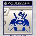 Dead Fool Heart Decal Sticker Blue Vinyl 120x120