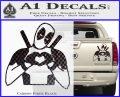 Dead Fool Heart Decal Sticker Carbon Fiber Black 120x97