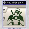 Dead Fool Heart Decal Sticker Dark Green Vinyl 120x120